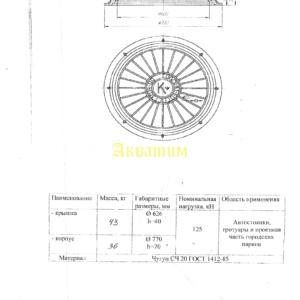 Люк канализационный тип С (B125) K-1-60