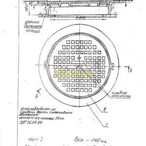 Люк чугунный канализационный плавающий тип Т