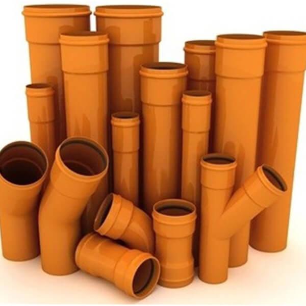 Трубы ПВХ и фасонные части для наружной канализации